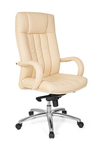 HJH Office bureaustoel, directeursstoel XXL F 400, zwart kunstleer. G 300 beige