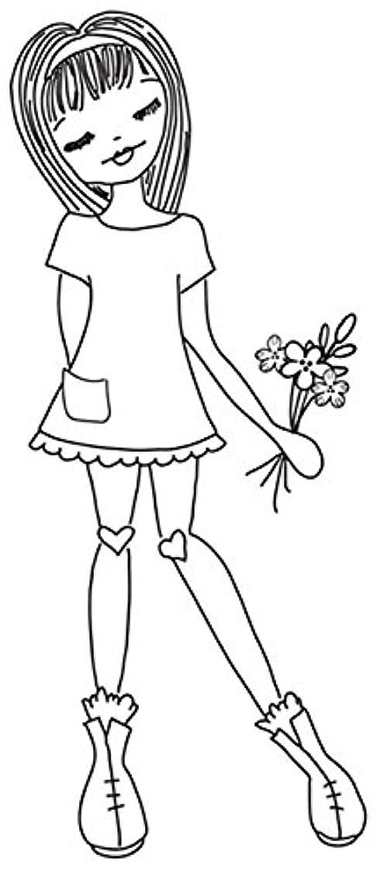Prima Marketing JN Doll Stamps-Daisy