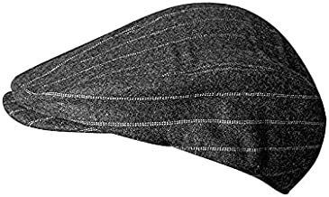 Men Spring Autumn WinterDark Gray Berets Stripes Vintage Flat Caps Gatsby Male Driver Newsboy Hats