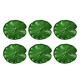 POPETPOP 10pcs Pond Lilly Pads-Artificial Floating Lotus Leaf-Realistic Lily Pads Floating Scenery Lotus Pods Aquarium Fish Tank Water Landscape Decoration Pond Water Decor