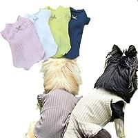 【kamakura dog】ハルシャツ 犬 服 半袖 シンプル 上品 (ベージュ, L)