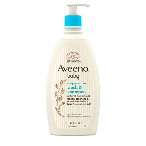 Aveeno Baby Wash and Shampoo, 18-Fluid Ounces Bottle