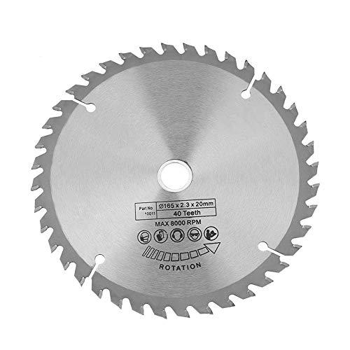 NiceJoy Sierra Circular de reemplazo de Disco de 165 mm Diámetro de Rueda 20mm 40 Dientes de la Herramienta Rotatoria de la carpintería