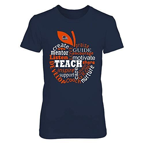 FanPrint UTSA Roadrunners T-Shirt - Teacher - Teaching Quotes Inside Apple - Women