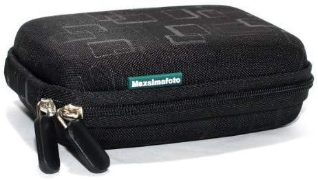 Maxsimafoto–Schwarz Kunstleder Kamera Tasche/Schutzhülle für Panasonic Lumix DMC-tz70, tz80TZ90, ZS60, ZS100, tz80, TZ100, TZ101