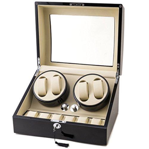 LDDLDG Automatische Uhrenbeweger Box Watch Winder Mini Sicherheitsschrank speziell für Schütteltisch, Klavier, Lack, fünf Modell Drehtisch Box entwickelt. (Color : 4+6B)