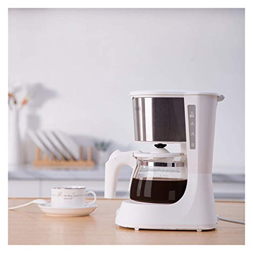 Kaffeemaschine SOCTY 652ML Kaffeemaschine 220V Espresso Kaffeemaschine mit Glaskocher Kaffee Pulver Filter Anti-Tropfen-Isolierung Teekanne von (Farbe: Weiß, Stecker Typ: 200W) Traditionelle Kaffeemas
