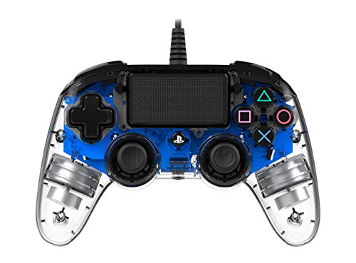Nacon Wired Illuminated Compact PlayStation 4 Controller Blue (PS4)