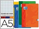 Libreta escolar oxford 48 h din A5 cuadro 4 mm. (10 Unidades)