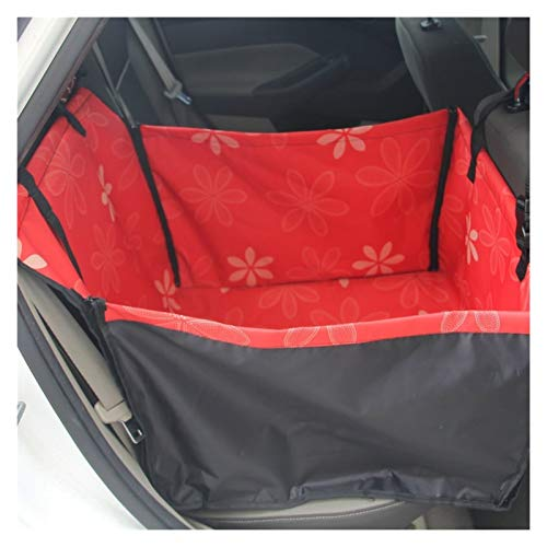 DIYHM Pet Carriers Dog Car Seat Cover Carrying for Dogs Cats Mat Blanket Rear Back Hammock Protector transportin perro Dogs and Armrest Fits Cars, Universal Size Fits fo (Color : Red)