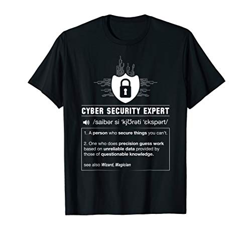 Lustiger Cyber Security Definition Programmierer IT Nerd T-Shirt