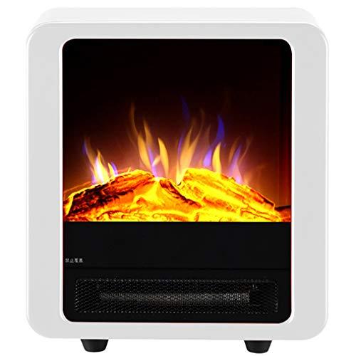 JCX Elektrische verwarming met houtkachel vlammeneffect vuur - 1800 W, vrijstaande open haard instelbare temperatuur en vlam panorama-design met groot venster