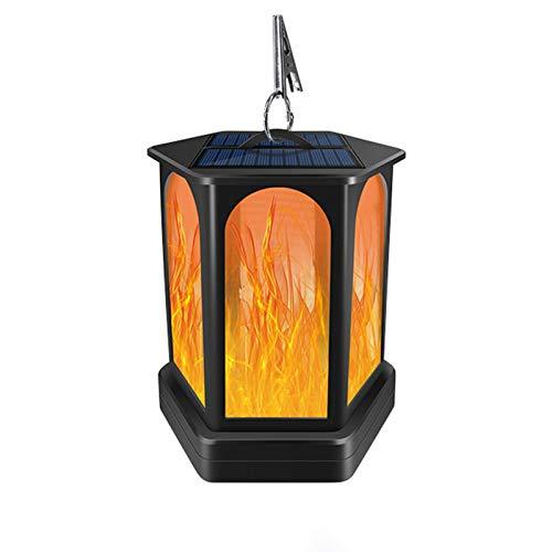EAHKGmh Solar al Aire Libre de la Linterna Llama Efecto de Las Luces Colgantes IP65 a Prueba de Agua Solar Decorativa Luz for jardín Patio Patio y de sobremesa