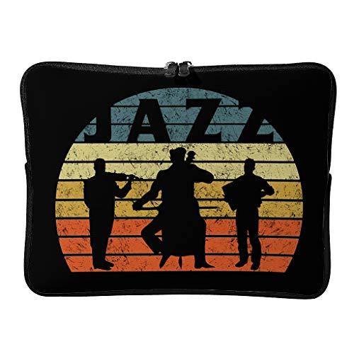 Laptoptaschen Jazz Mehrfarbig 5 Größen Erweiterbar - Tablet-Hülle Geeignet für Geschäft White 12 Zoll
