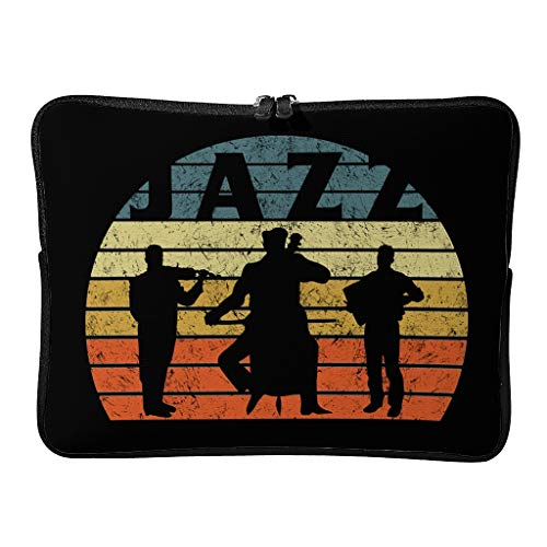 Laptop Bags Jazz Patterned 5 Sizes Lightweight - Tablet Case Suitable for Professional Travel White 15 Zoll