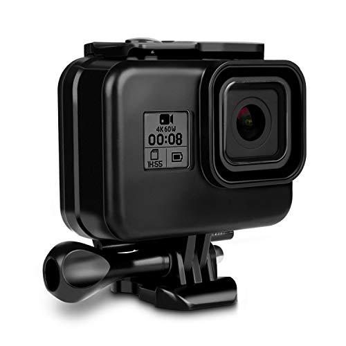 wasserdichte Schutzhülle Gehäuse für GoPro Hero 8 Action Kamera Zubehör, iTrunk 60M Wasserresistente Unterwassergehäuse mit Schnellmontage Klammer Zubehör für GoPro Hero 8(Schwarz)