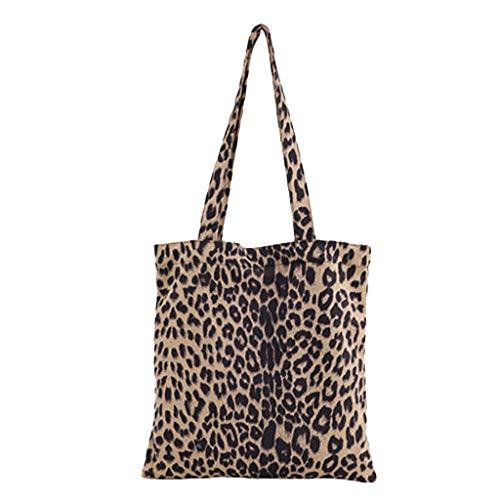 ZYUEER Damentaschen Handtasche Damen Einfache Handtaschen Leopard Casual Vintage Umhängetasche Falttasche