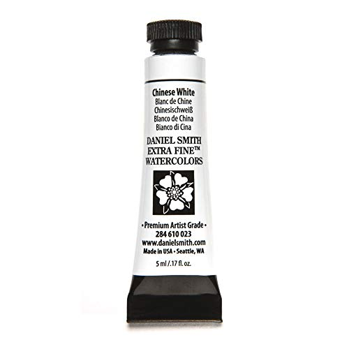 DANIEL SMITH 284610023 Extra Fine Watercolors Tube, 5ml, Chinese White