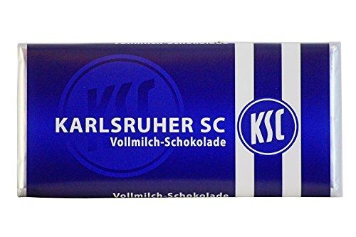 Karlsruher SC (KSC) Schokolade Teamschokolade Vollmilch 100g Tafel, nicht nur für Weihnachten