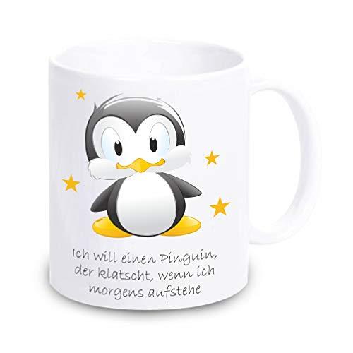 Lustige Pinguin Kaffee-Tasse