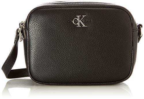 Calvin Klein Jeans DOUBLE ZIP CROSSBODY, Corpo Doppia Donna, Nero, 28 Inches, Extra-Large