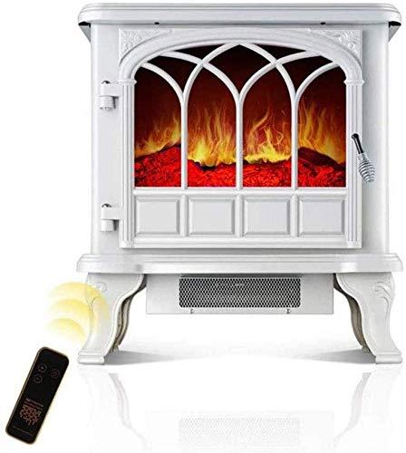 XXSHN Living Equipment 2000W Chimenea eléctrica portátil Estufa eléctrica de calefacción Ajustable con Efecto de Llama de Estufa de leña 3D