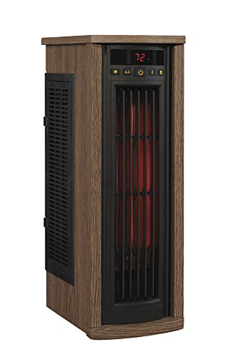Kid Safe Oak Oscillating Tower Heater for Home