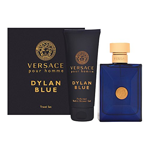 Versace Dylan Blue 2 Piece Gift Set For Men (3.4 Eau Di Toilette Spray/3.4 Eau Di Perfume Spray Bath & Shower Gel)