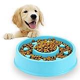 UNIIKE Pet Fun Alimentatore Ciotola del Cane Alimentatore Lento, Bloat Arresto Cibo per Cani Ciotola Puzzle Cat Ciotola Non Skid Pet Food Heart-Shape