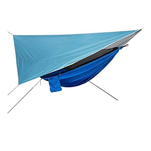 JYSLI Anywhere Outdoor Mosquito Net Hammock Tent With Waterproof Anti-UV Canopy Awning Set Polyester Camping Hammock Canopy Sun Shelter stuffed (Color : Type D)
