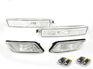 CPW (tm) CLEAR BUMPER + FENDER SIDE MARKER LIGHTS + CHROME BULBS - M COUPE ROADSTER FOR 8PCS BMW Z3 S54 S52