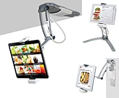 Expansive compatibility - Slide-adjust holder holds tablets between 6-8 75 inches in width including the new iPad 10 2-Inch (7th & 8thGen), iPad Air Gen 4 (2020), 12 9-Inch iPad Pro 11-inch iPad Pro iPad mini 5 iPad Air 3 Surface Pro 4 iPad Gen 6 and...