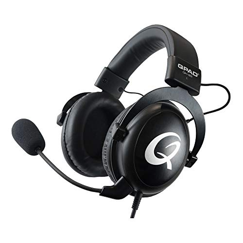QH-92 Pro Gaming Headset Premium - Kopfhörer für PC-Gaming - PS4 - XBox - Nintendo Switch - Laptop - Smartphone und Tablet - Over Ear - 53-mm Treiber und Mikrofon mit Rauschunterdrückung