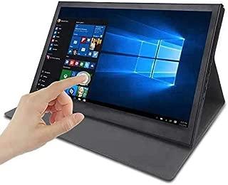 モバイルモニター 15.6インチポータブルモニター IPS LCD タッチスクリーン 1920x1080P モバイル ディスプレイ HDMI/USB/スピーカー内蔵PCモニター サブモニター ゲーミングモニタ セキュリティーモニター