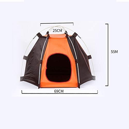 GBX Four Seasons Universal Pet Supplies Haustierzaun Tragbarer zusammenklappbarer Haustier-Welpen-Katzenspielzeug-Federkäfig Wasserdichter Zeltzaun für Hundezwinger Indoor Outdoor, Leichtes Haustierf
