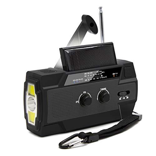 【LEAP】防災ラジオ 非常用照明器具 手回し充電 USB充電 停電緊急対策 スマホ充電対応可能 日本語説明書付き (ブラック)
