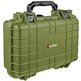 Eylar Tactical Hard 1 Gun Case Water & Shock Proof with Foam TSA Approved 11.6 Inch 8.3 Inch 3.8 Inch (OD Green)