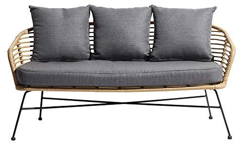 PKline Design Tuin Muka Lounge Lounge sofa + kussen bank bank bank polyrotan