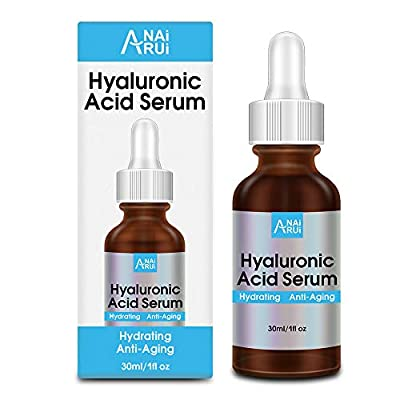 Hyaluronic Acid Serum for Skin, 100% Pure HA Serum with Plant Extracts, Best Skin Plumping Serum, Anti Dryness and Wrinkles, Fine Lines, Natural Hyaluronic Acid Moisturizer for Face, 1 oz
