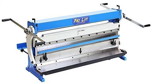 Pro-Lift-Werkzeuge Universal-Blechbearbeitungsmaschine 3in1 1016 mm x 1,0 mm Bearbeitungsgerät Rundbiegen Abkanten Schneiden Blechbearbeitungs-Maschine Blechgröße 1016mm