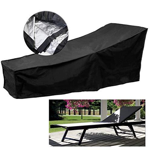 Yissma Sun Lounger Cover Case Garden Tumbona Oxford Impermeable y Transpirable para Muebles de Patio
