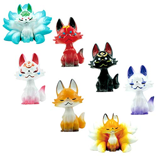 Qualia Tsubomi Fox Plastic Toy - Blind Box Includes 1 of 7 Collectable Figurines - Fun, Versatile Decoration - Made from Durable Plastic