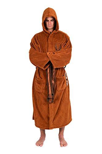 Star Wars Jedi Master Fleece Comfy Robe Bathrobe Big and Tall Brown