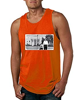 Pablo Escobar Medellin Cartel Cocaine Cowboys White House Picture | Mens Pop Culture Graphic Tank Top Orange Medium