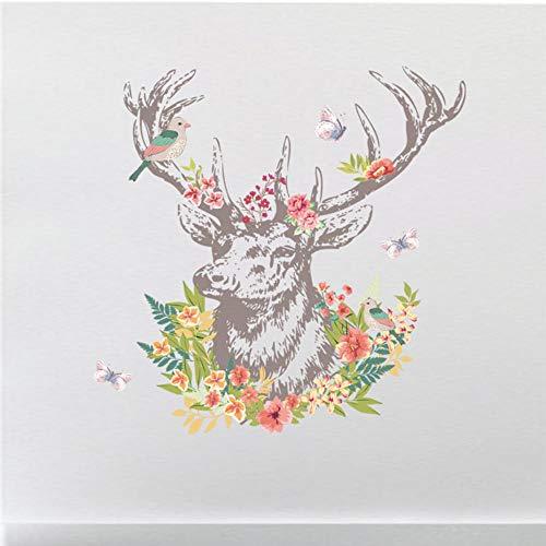 Deer Bird Walls Aufkleber Wohnzimmer Schlafzimmer Wandtattoos Weihnachten Geburtstagsgeschenk Home Decor Wandbild Poster 90x60cm