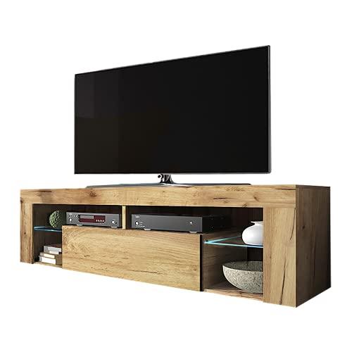 Selsey-Living TV Stand, Lancaster Oak Effect, 35 x 140 x 51 cm