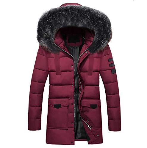 Herren Winterjacke Jacke Parka Warm Winter Funktionsparka Wintermantel Lange Kunstfell Gefüttert Outdoor Jacket Gepolstert Wärmejacke Coat Wärmemantel