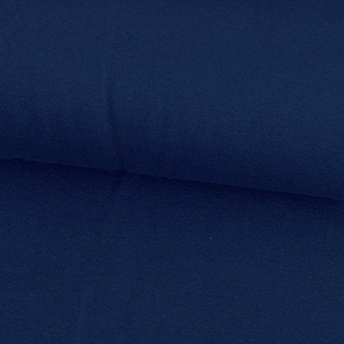 0,5m Jersey uni marineblau Meterware 95% Baumwolle, 5% Elasthan