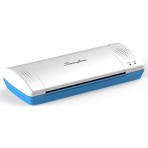 Swingline Laminator Thermal Inspire Plus Lamination Machine 9 inches Max Width Quick WarmUp Includes Laminating Pouches White / Blue 1701863ECR