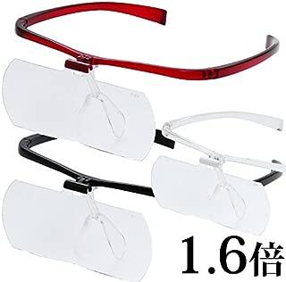 双眼メガネルーペ メガネタイプ 1.6倍 HF-61D ブラック